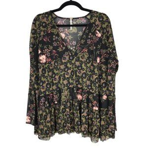 FREE PEOPLE Isabelle tunic floral sheer AA14